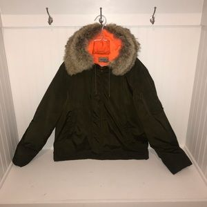 Michael Kors Coyote Fur Parka STAINED